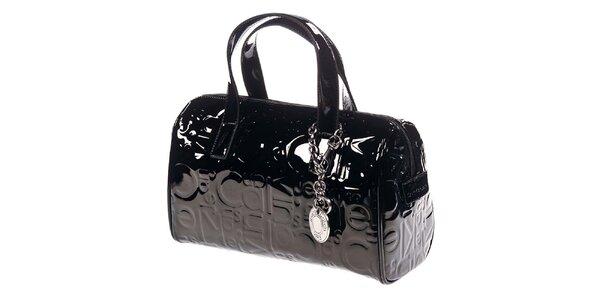 Dámska čierna kabelka so vzorom Calvin Klein