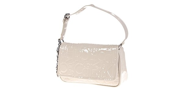Dámska podlhovastá krémovo biela kabelka Calvin Klein
