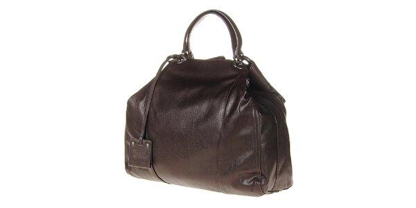 Dámska tmavo hnedá kabelka s pevnými ušami Calvin Klein