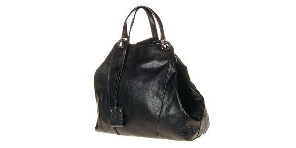 Dámska čierna kabelka s pevnými ušami Calvin Klein