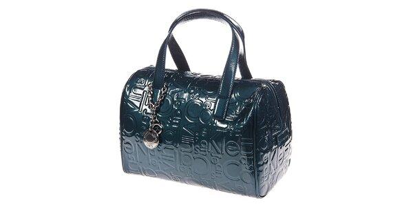 Dámska modrozelená kabelka so vzorom Calvin Klein