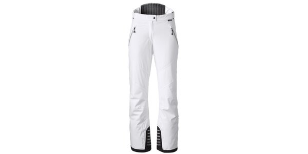 Dámske biele lyžiarske nohavice s kontrastnými lemami Maier