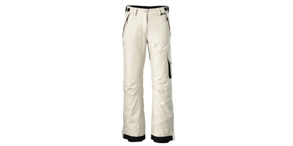 Dámske krémovo biele lyžiarske nohavice Maier