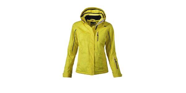 Dámska žltá lyžiarska bunda s potlačou Maier