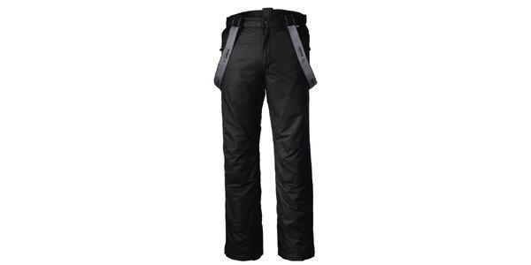 Pánske funkčné čierne lyžiarske nohavice Maier