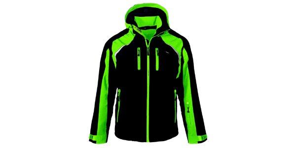 Pánska čierno-zelená lyžiarska bunda Maier