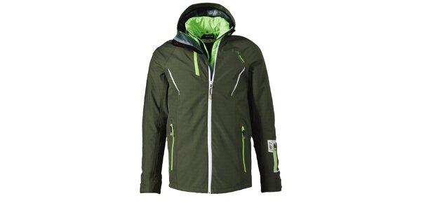 Pánska khaki funkčná zimná bunda Maier