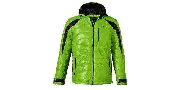 Pánska zelená prešívaná zimná bunda Maier