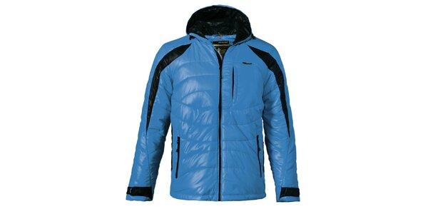 Pánska modrá prešívaná zimná bunda Maier