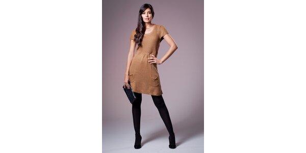 Dámske orieškovo hnedé šaty Ada Gatti