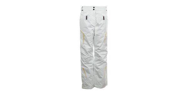 Dámske biele lyžiarske nohavice so žltými prvkami Northland Professional