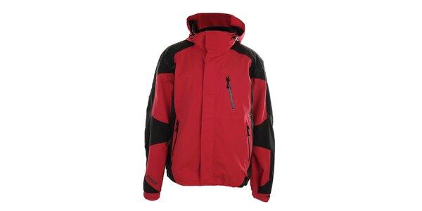 Pánska červeno-čierna bunda s kapucňou Northland Professional