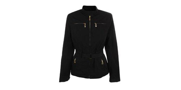 Dámska čierna bunda s opáskom Northland Professional