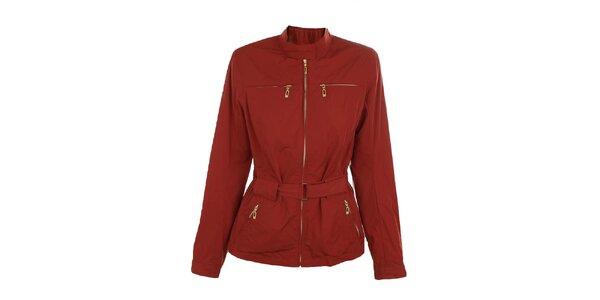 Dámska červená bunda s opáskom Northland Professional