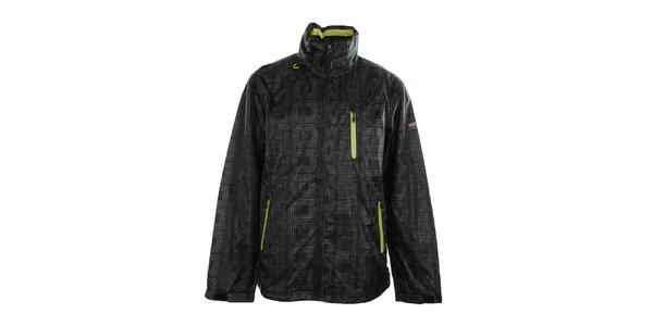 Pánska čierna bunda s potlačou Northland Professional