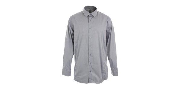Pánska šedá obleková košeľa so vzorom Pietro Filipi