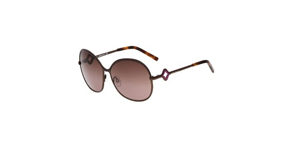Dámske guľaté kovové slnečné okuliare Miss Sixty s hnedými sklíčkami