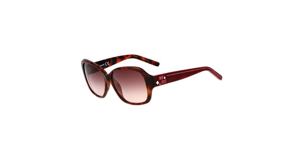 Dámske žíhané hranaté plastové slnečné okuliare Miss Sixty
