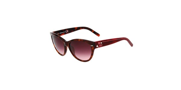 Dámske hnedé žíhané slnečné okuliare Miss Sixty