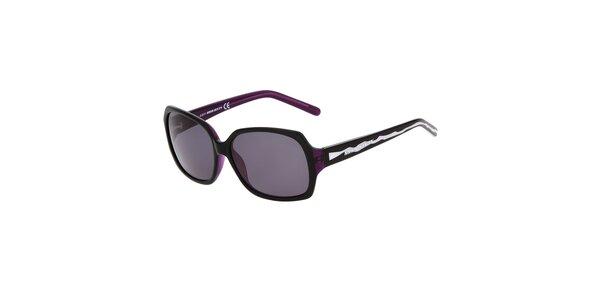 Dámske čierne plastové slnečné okuliare Miss Sixty