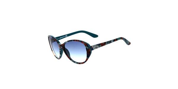 Dámske petrolejové slnečné okuliare Miss Sixty so vzorom
