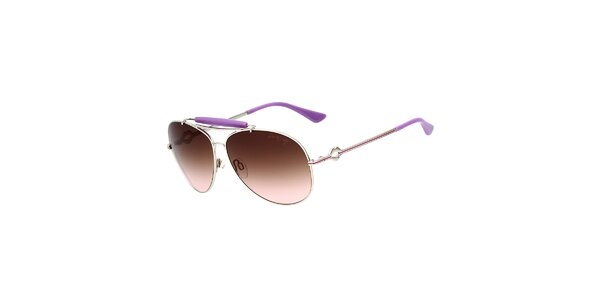 Dámske aviator slnečné okuliare s fialovými detailmi Miss Sixty
