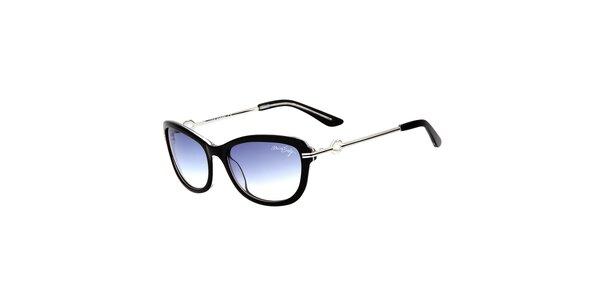 Dámske čierne retro slnečné okuliare s tenkými stranicami Miss Sixty