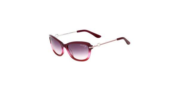 Dámske fialové retro slnečné okuliare s tenkými stranicami Miss Sixty
