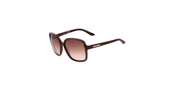 Dámske hranaté gaštanové slnečné okuliare Miss Sixty