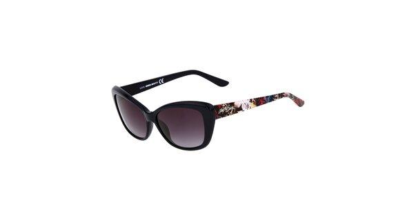 Dámske čierne mačacie slnečné okuliare Miss Sixty