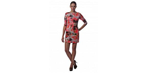 Dámske červené mini šaty Miss Sixty s kvetinovou potlačou