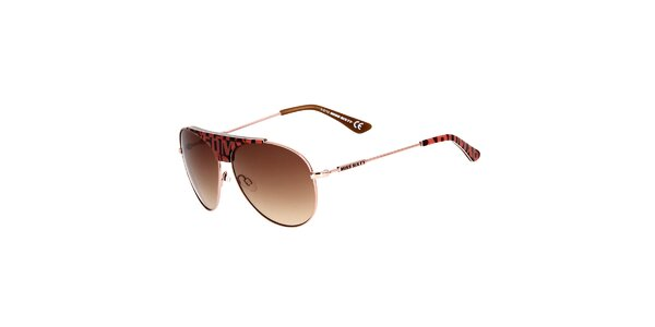 Dámske aviator slnečné okuliare s farebnými detailmi Miss Sixty