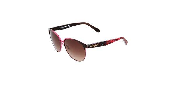 Dámske ružovo-čierne slnečné okuliare Miss Sixty s farebnými stranicami