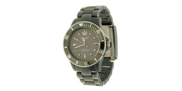 Antracitové hodinky Jet Set