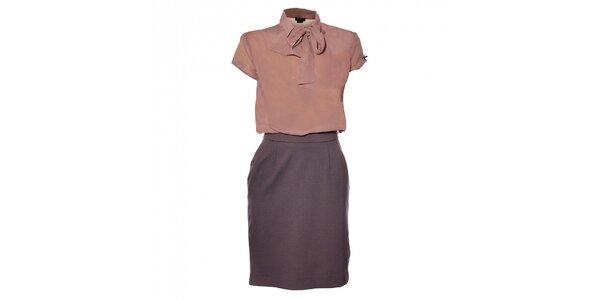 Dámske staroružové šaty Miss Sixty s viazankou