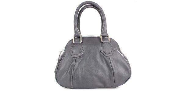 Dámska šedá kožená kabelka Gianfranco Ferré