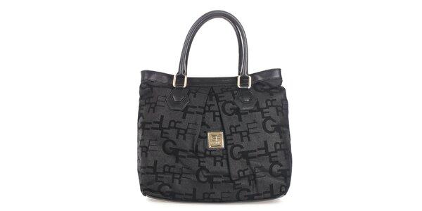 Dámska šedo-čierna shopper kabelka Gianfranco Ferré