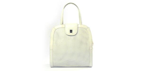 Dámska krémová kabelka s perforáciou Gianfranco Ferré