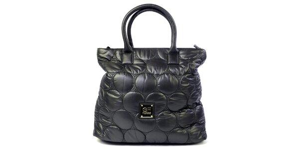 Dámska čierna prešívaná kabelka s kolieskami Gianfranco Ferré