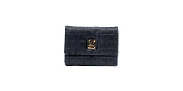 Dámska tmavo modrá prešívaná peňaženka so štítkom Gianfranco Ferré