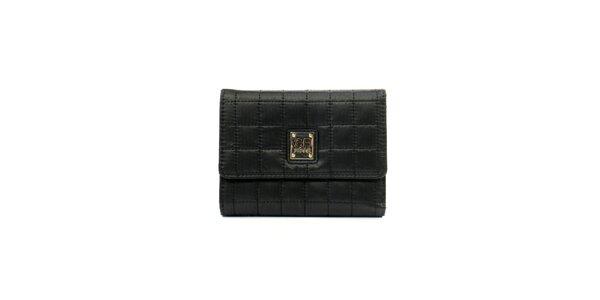 Dámska čierna prešívaná peňaženka so štítkom Gianfranco Ferré