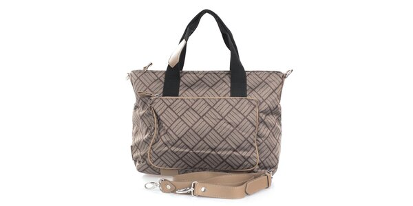 970f6e2419 Dámska hnedá kabelka s vonkajším zipsovým vreckom Gianfranco Ferré
