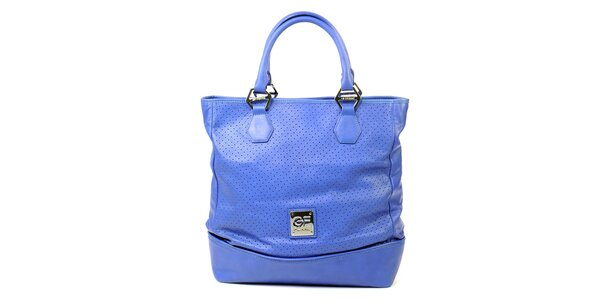 Dámska modrá kabelka s perforáciou Gianfranco Ferré