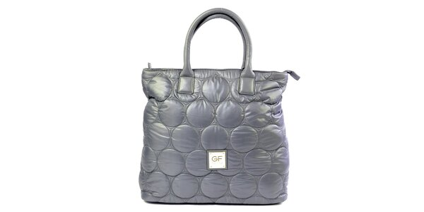 Dámska fialová látková prešívaná kabelka Gianfranco Ferré