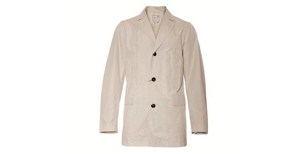 Pánsky krémový kabát Pietro Filipi