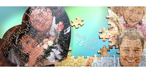Valentínske PUZZLE srdce s vlastnou fotografiou