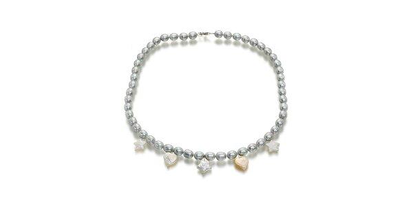 Dámsky perlový náhrdelník Orchira s príveskami