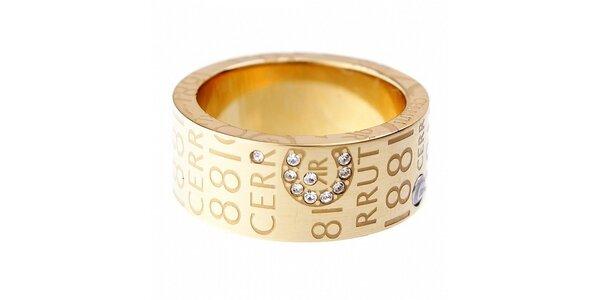 Dámsky zlatý prsteň Cerruti 1881 s kamienkami