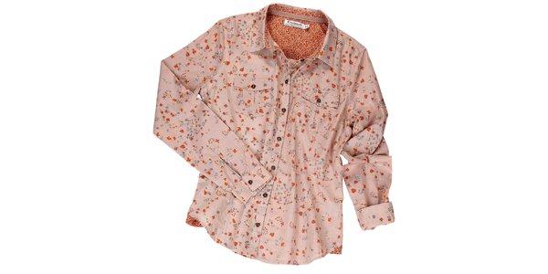 Dámska staroružová košeľa s kvietkami Fresh Made