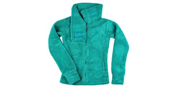 Dámska zelená fleecová bundička Stitch&Soul
